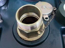 Heating oil tank fill point