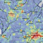 Photograph of close up of DECC Water Source Heat Pump Map
