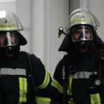 Stock photograph of fire brigade personnel