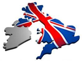 Image of United Kingdom overlaid with Union Flag