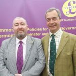 Photograph of Brian Higginson and Nigel Farage