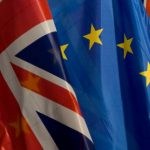Photograph of EUSSR Flag and Union Flag