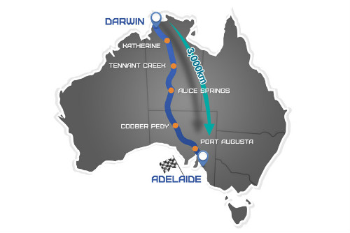 World Solar Challenge Route Map