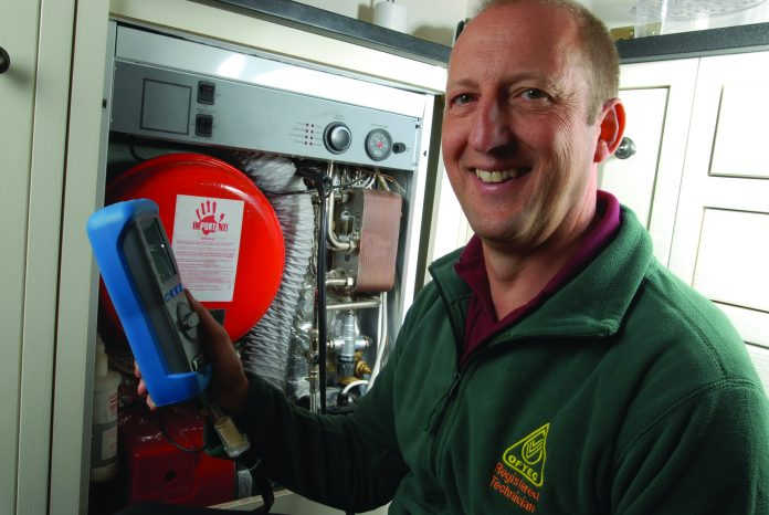 Photograph of OFTEC Registered Heating Oil Technician