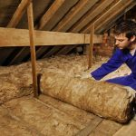 Photograph of Loft Insulation Being Fitted