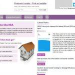 Screenshot of NIA Consumer Website