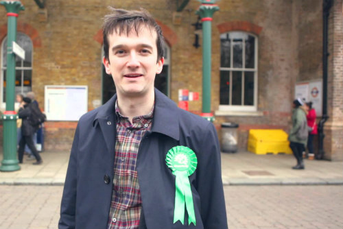 Photograph of Tom Chance, Green Party