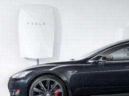 Photograph of Tesla Powerwall Solar Storage Battery