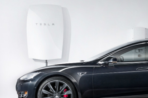 Photograph of Tesla Powerwall Solar Storage Battery
