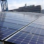 Photograph of Solar PV Panels On QUB's Centre for Experimental Medicine