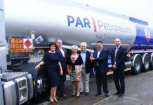 Par Petroleum Awarded Depot of the Year 2016 - ltoR Leanne Hardy, Stuart Hardy, Carol Roy-Toole, Peter Roy-Toole, Simon Roy-Toole and Graham Smerdon of Sponsors QBE Insurance