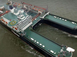 Giant Ship Begins New North Sea Oil and Gas Era