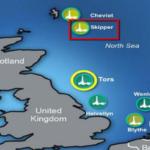 Skipper well oil rig Northern North Sea