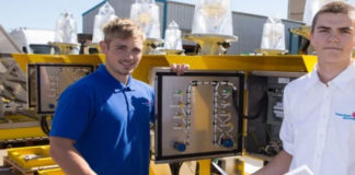 Apprentices Tom Woodruff and Cory Newland, taken on by Pharos Marine Sims Systems to complete their apprenticeships after being made redundant