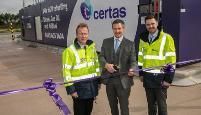 24hr HGV Refuelling Site Opens In Cannock